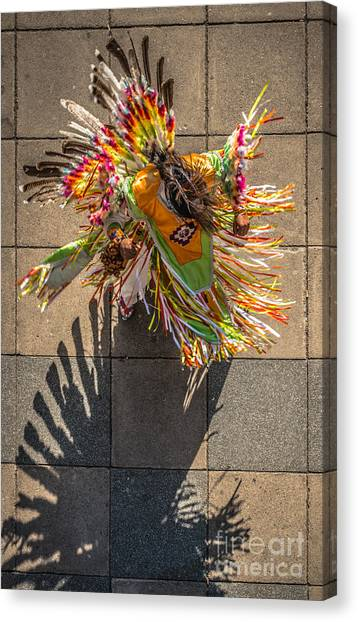 Peruvian Canvas Print - Street Shadow Dancer by Ian Monk