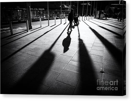 Canvas Print featuring the photograph Street Shadow by Yew Kwang