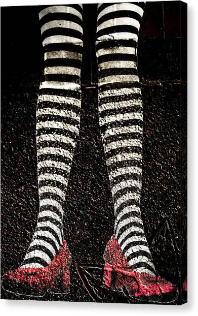 Street Shoes Canvas Print