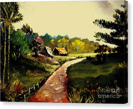 Street  To Countryside Canvas Print