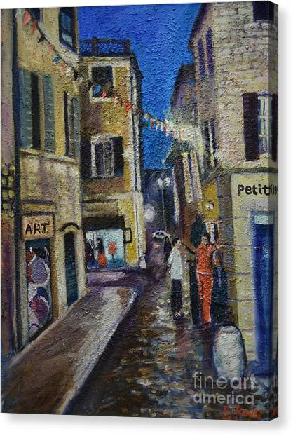 Street View Provence 2 Canvas Print