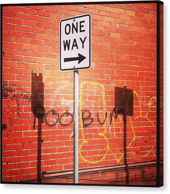 Law Enforcement Canvas Print - One Way by Darren O' Dea