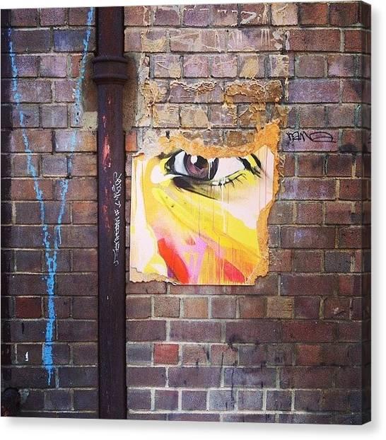 Law Enforcement Canvas Print - #streetart #graffiti #brickstalker by Darren O' Dea