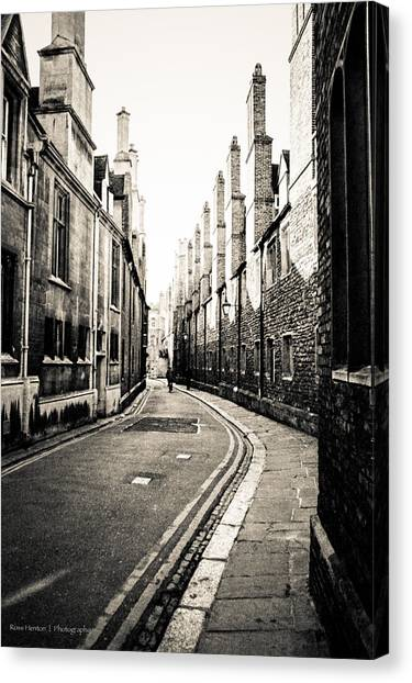 Streets Of Cambridge - For Eugene Atget Canvas Print