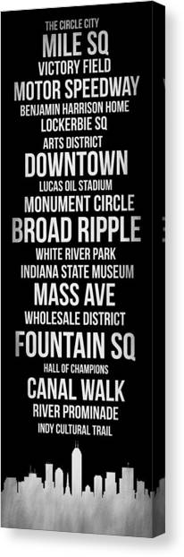 Indianapolis Canvas Print - Streets Of Indianapolis 2 by Naxart Studio