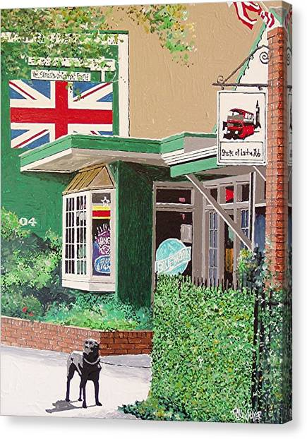 Streets Of London Pub Canvas Print by Paul Guyer