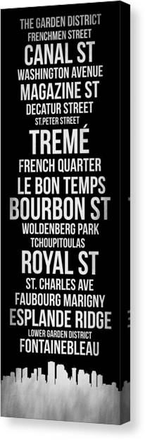 New Orleans Canvas Print - Streets Of New Orleans 2 by Naxart Studio