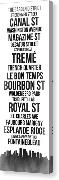 New Orleans Canvas Print - Streets Of New Orleans 3 by Naxart Studio