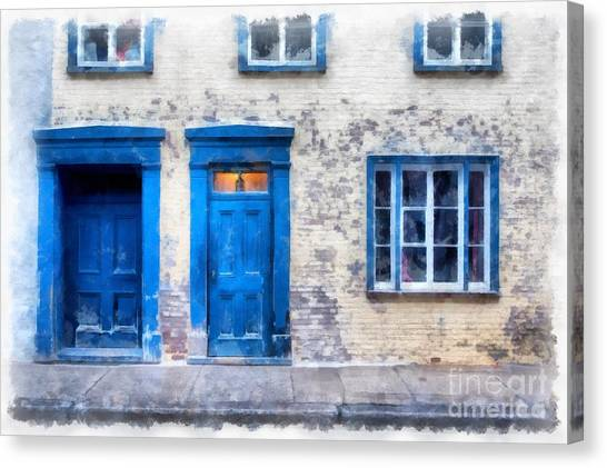 Quebec Canvas Print - Streets Of Old Quebec 2 by Edward Fielding