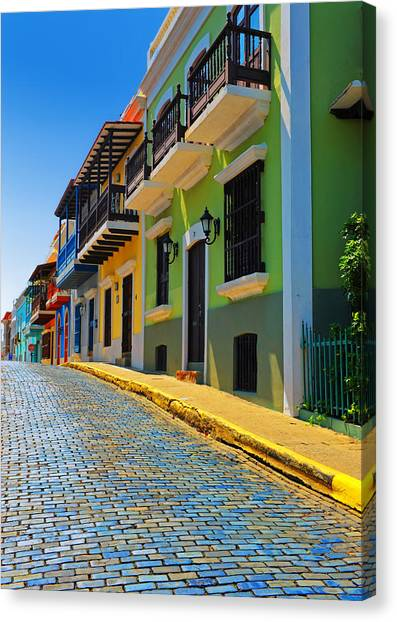 Puerto Canvas Print - Streets Of Old San Juan by Stephen Anderson
