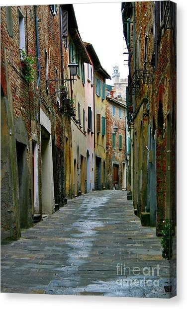 Streetscape Tuscany Canvas Print