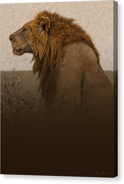 Lions Canvas Print - Strength by Aaron Blaise