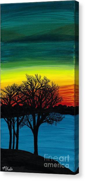 Strength On Shore Canvas Print by Melissa F Kaelin