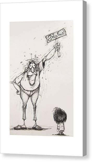Stress Free Canvas Print by Wayne Carlisi