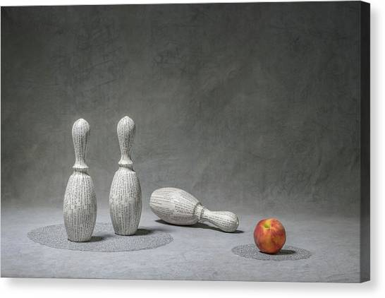 Bowling Canvas Print - Strike by Christophe Verot