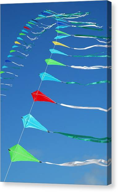 String Of Kites Canvas Print