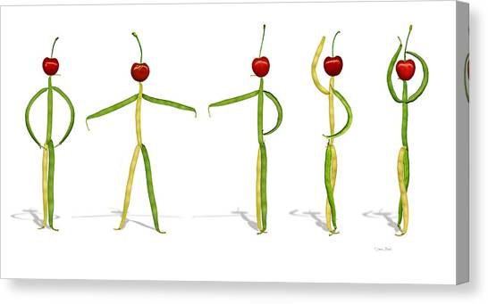 Stringbean Cherries Five Ballet Positions  Canvas Print