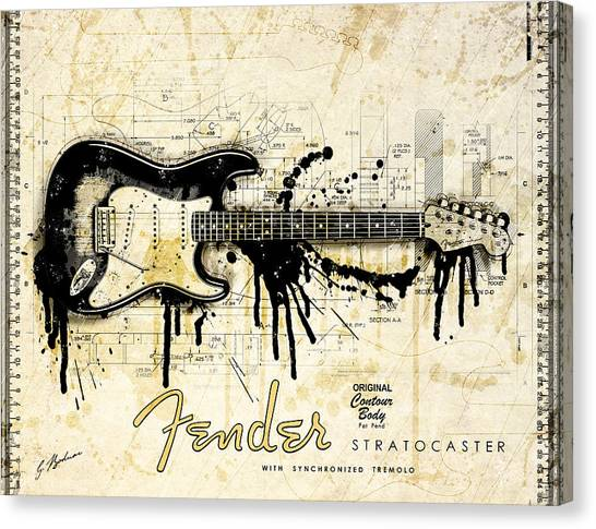 Fender Guitars Canvas Print - Legacy by Gary Bodnar