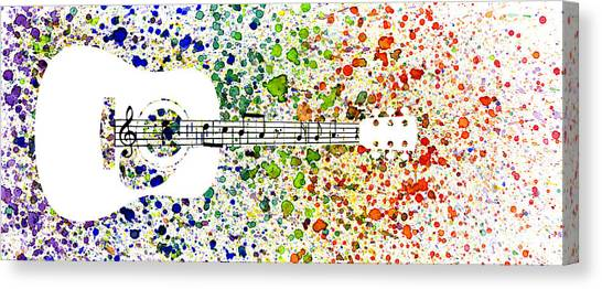 Rainbow Six Canvas Print - Strings Of Notes by Tim Kravel
