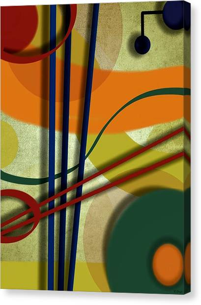 Abstract Strings Canvas Print