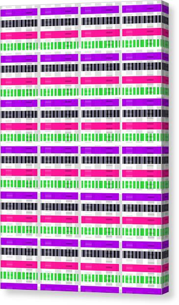 Repeat Canvas Print - Stripe And Check by Louisa Hereford