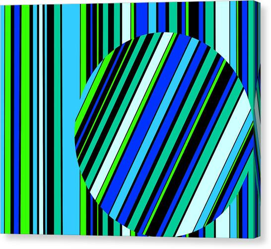 Striped Circle  C2014 Canvas Print