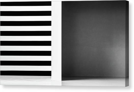 Stripes And Shadows Canvas Print by Inge Schuster