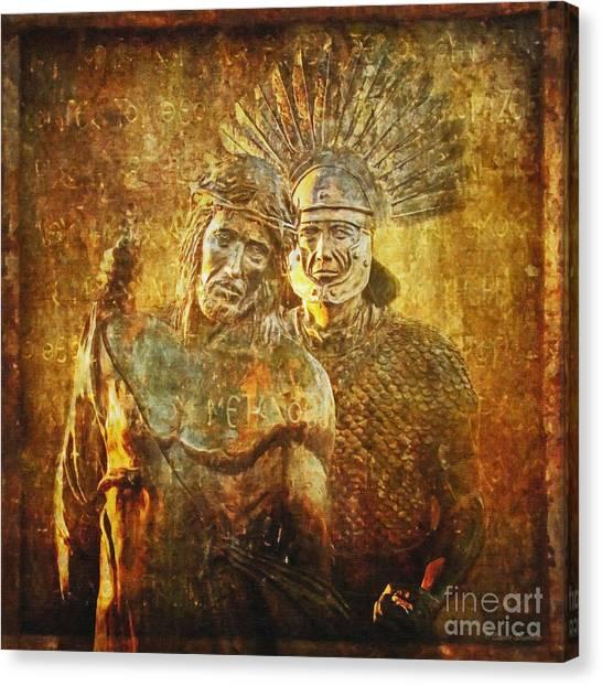 Stripped Of His Garments Via Dolorosa 10 Canvas Print