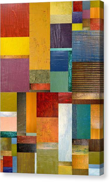 Strips And Pieces Ll Canvas Print