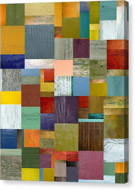 Strips And Pieces Vl Canvas Print