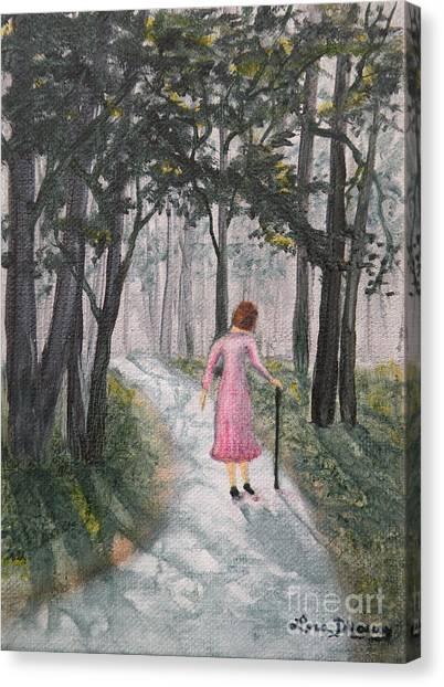Strolling Down Memory Lane Canvas Print