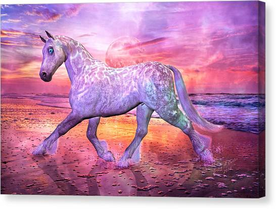 Dapple Gray Canvas Print - Strolling In Paradise by Betsy Knapp