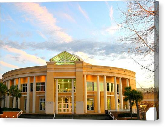 University Of South Carolina Canvas Print - Strom Thurmond Fitness Center by William Copeland