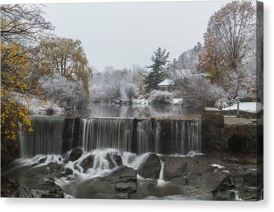 Stroudwater Falls Portland Maine Canvas Print