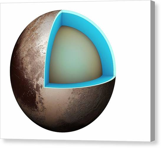 Cutout Canvas Print - Structure Of Pluto by Mikkel Juul Jensen