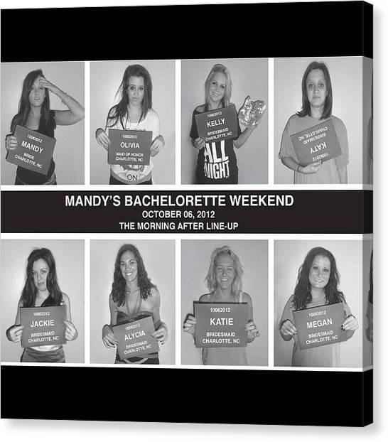 Bachelorette Canvas Print - Struggle Bus. #bachelorette by Mims Katy