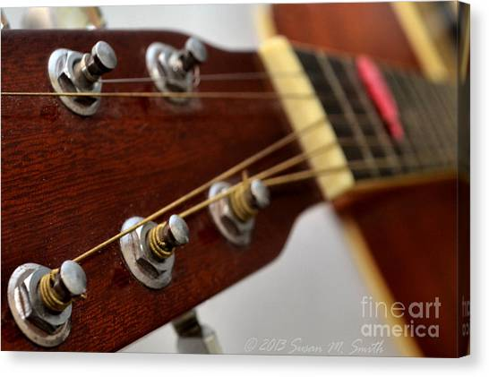 Guitar Picks Canvas Print - Strung Out by Susan Smith