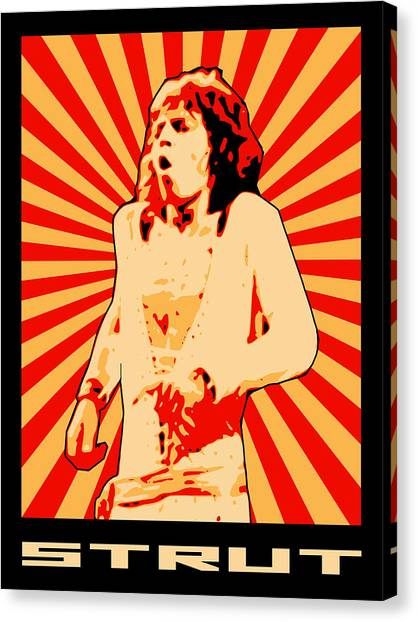 Moves Like Jagger Canvas Print - Strut by Lance Vaughn