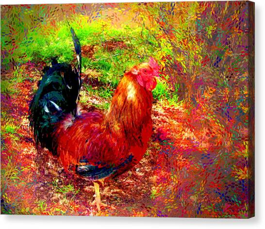 Strutting In Living Color Canvas Print