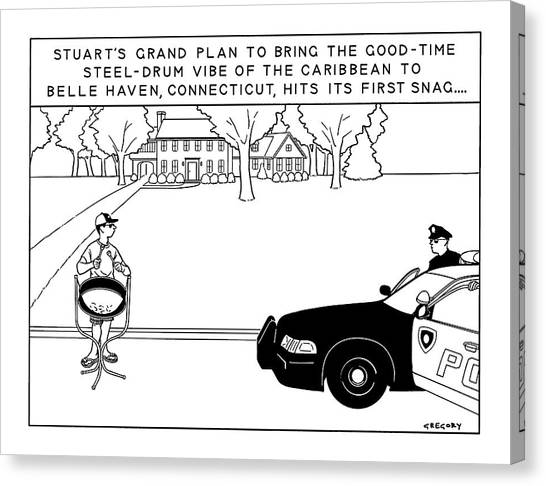Police Officer Canvas Print - Stuart's Grand Plan To Bring The Good-time by Alex Gregory