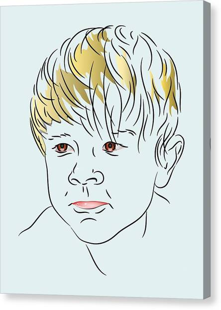 Stubborn Boy Canvas Print