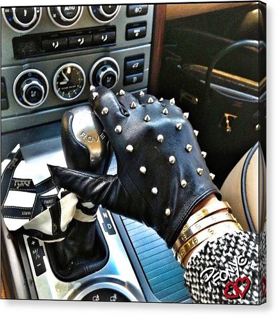 Gloves Canvas Print - Stud Life❌⭕💋 #urbanoutfitters by PhotoFashion ObsessedNYC