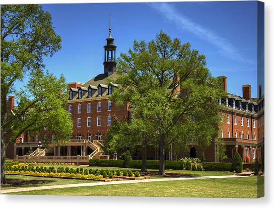 Oklahoma State University Canvas Print - Student Union At Oklahoma State by Ricky Barnard