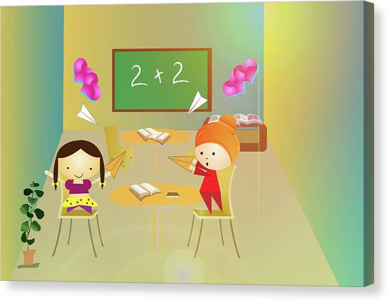 Classroom Canvas Print - Students Having Fun In A Classroom by Fanatic Studio / Science Photo Library