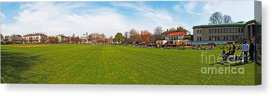 Graduate Degree Canvas Print - Students In Trinity College Dublin by Luis Alvarenga