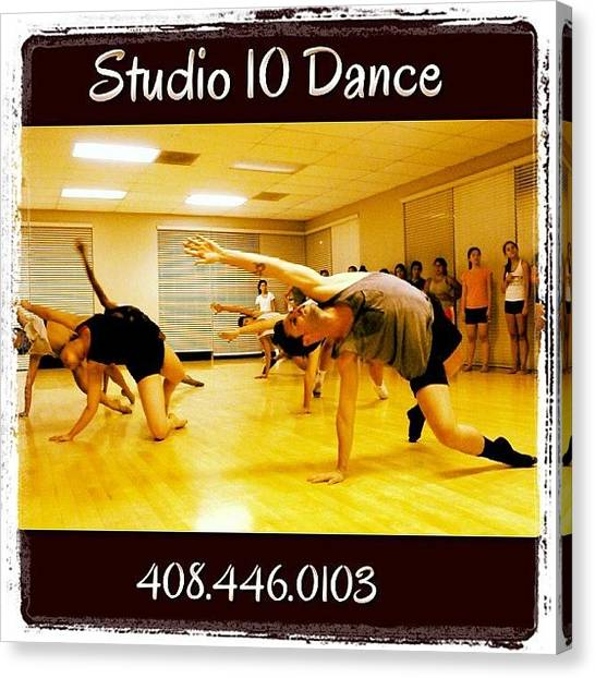 Tumbling Canvas Print - #studio10dance #dance #fitness #ballet by Studio 10 Dance
