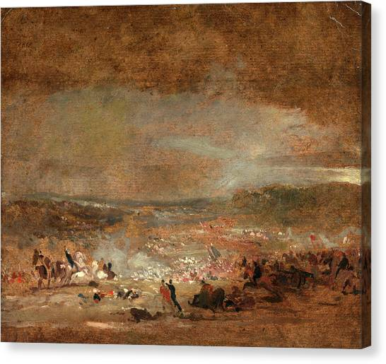Study For Battle Of Waterloo Study For Battle Of Waterloo Canvas Print by Litz Collection