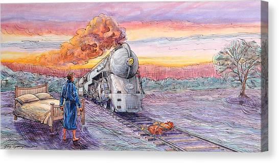 Study For Revenge Of The Sleepless Man Canvas Print by Gary Symington