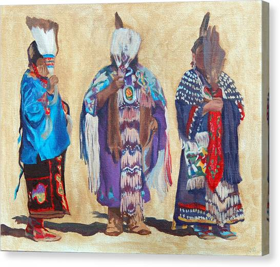 Study For The Three Sentinels Canvas Print