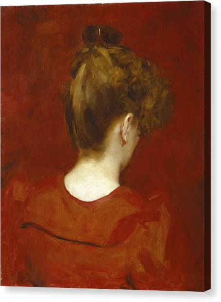 Knot Canvas Print - Study Of Lilia by Charles Emile Auguste Carolus Duran